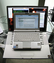 eeePC on MacBook Pro 15', photo by sparktography