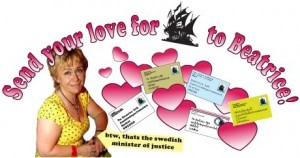 send your love for The Pirate Bay to Beatrice