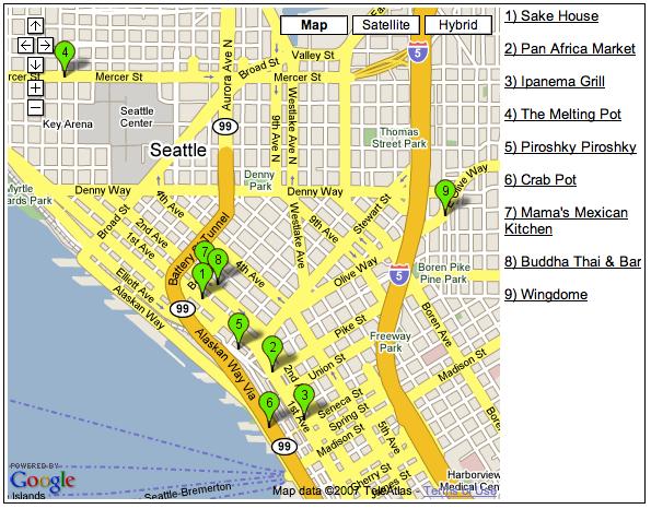 Dynamic Google Maps